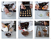 Bonet e amaretti (chocolate dessert with amaretti, Italy) being made