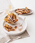 Baked rice-almond fingers