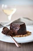Bonet alla panna (Schokoladendessert mit Amaretti, Italien)