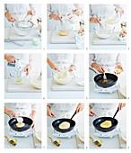 Preparing buttermilk pancakes