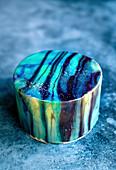 Blue Mirror Glaze Cake