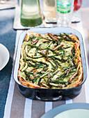 Pea and asparagus lasagne