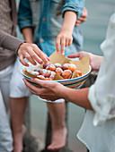 Fried ricotta balls