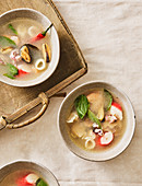 Sour soup with seafood (Thailand)