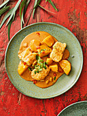Thai rose fish massaman