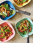 Thai minced pork with basil