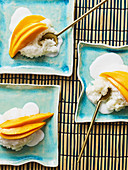 Stick rice with mango and coconut milk (Thailand)