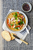 Lemongrass and Ginger Noodle Soup with chicken
