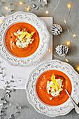 Tomato Celery and Stilton Soup
