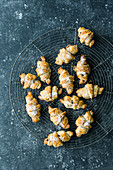 Rugelach (Jewish mini croissants with chocolate filling)