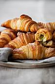 French pistachio nut croissants