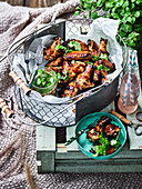 Long Weekend - A Moveable Feast - Crisp Autumn days make for perfect picnic weather so grab your basket and hit the park! Sticky Chicken wings