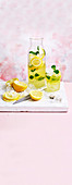 Iced Lemon and Mint Green Tea