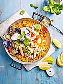 Fast Pipi and Squid Paella