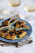 Caviar and herb frittata
