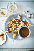 Bangers and mash on a stick