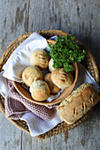 Whey and herb rolls