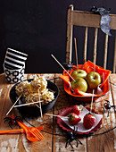 Healthy Halloween: Toffee popcorn sticks and Poison Fruit Skewers