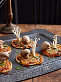 Healthy Halloween:Toadstool Pizzas