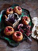 Pomegranate Semolina Cakes