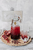 Hibiscus and Pomegranate Cordial