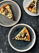 Schafskäse-Zucchini-Quiche mit Minutensteaks vom Rehrücken