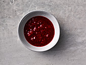 Raspberry and lingon berry jus