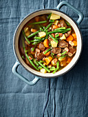 Wild vegetable and bean stew