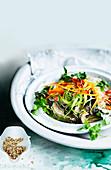 Vegetable and Ginger Soba Noodles Salad
