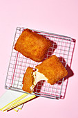 Dutch kaassoufflé (deep-fried cheese fritter)