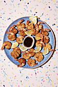 Fried prawns with panko