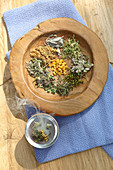 Various dried medicinal herbs