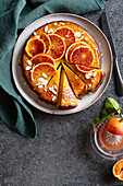 Orange and almond cake with vanilla and fennel seeds