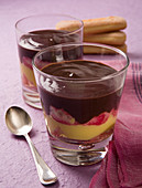 Zuppa inglese (layered dessert with sponge fingers and Alchermes liqueur, Italy)