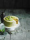Mojito-Torte mit Limetten