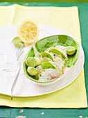 Avocadosalat mit Dorade und Zitrone