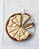 Butterscotch banoffee tart