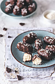 Homemade coconut bars