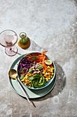 White bean salad bowl