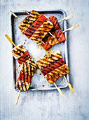 Spiced halloumi and watermelon skewers