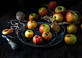 Autumn apples with apple corer