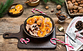 Porridge with tangerines and date syroup