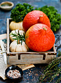 Pumpkins with herbs
