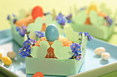 Muffins in DIY paper Easter nests