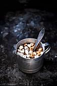 Hot chocolate with meringue