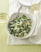 Green vegetable risotto with stracchino