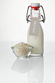 Rice milk and rice grains