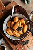 Kürbisgnocchi mit Salbei und brauner Butter
