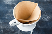 A coffee filter with a filter bag