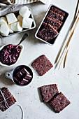 Chocolate biscuit squares